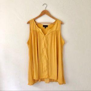Lane Bryant Mustard Yellow blouse